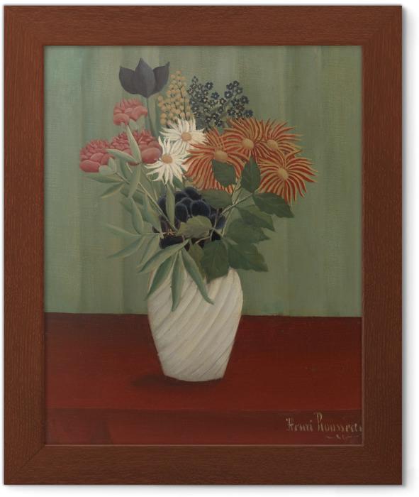 Ingelijste Poster Henri Rousseau - Een bos bloemen - Reproducties