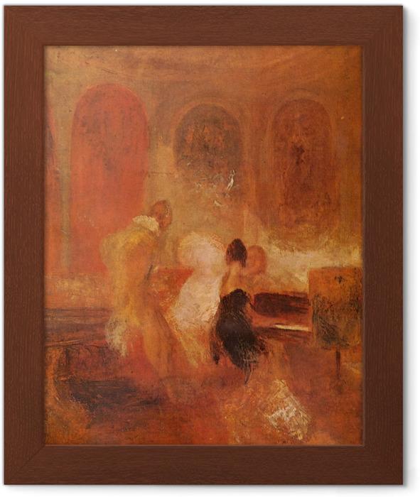 Póster Enmarcado William Turner - Un partido de la música, Castillo del este de Cowes - Reproducciones