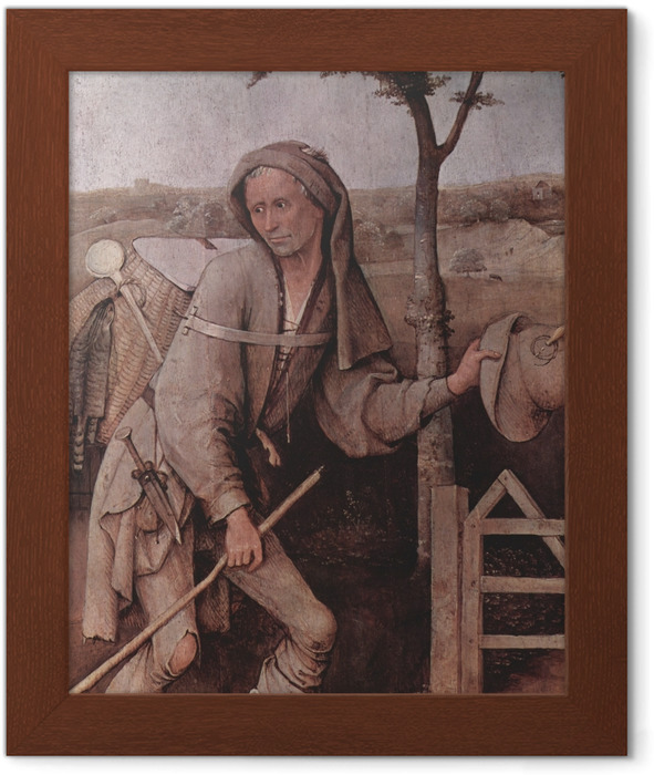 Hieronymus Bosch - The Vagabond Framed Poster - Reproductions