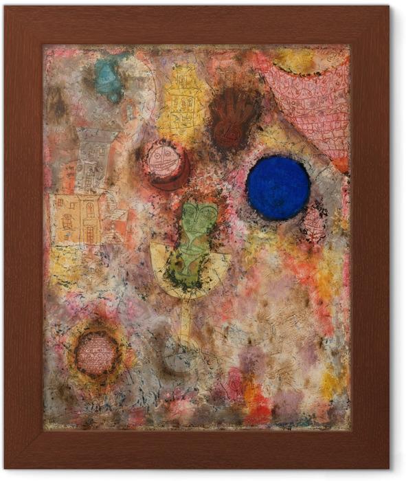 Ingelijste Poster Paul Klee - Magische tuin - Reproducties