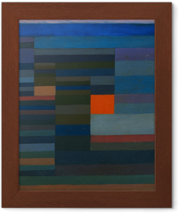 Paul Klee - Fire in the Evening Framed Poster - Reproductions
