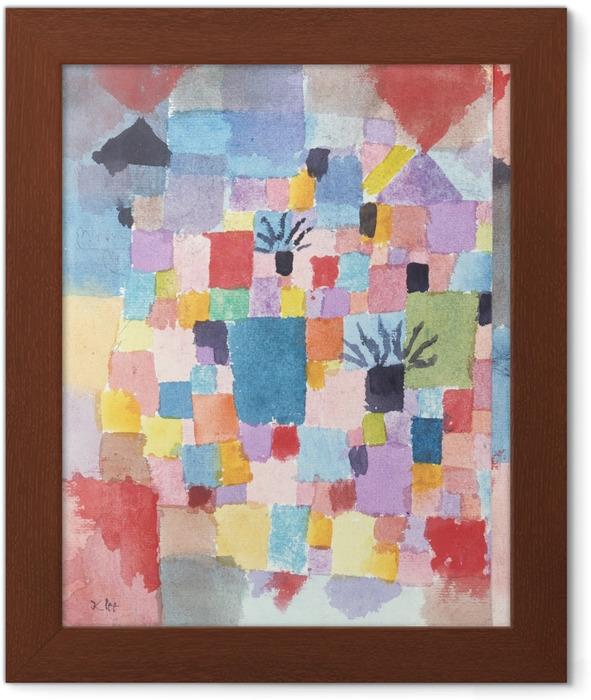 Gerahmtes Poster Paul Klee - Südliche (Tunesische) Gärten - Reproduktion