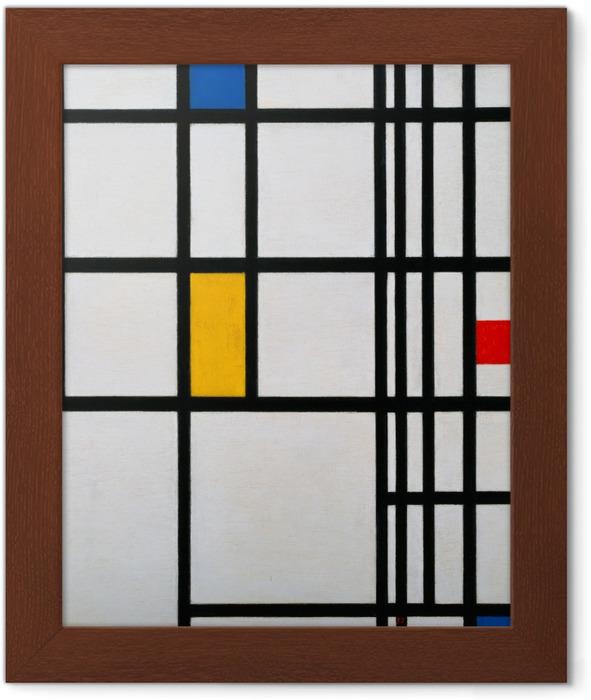 Poster en cadre Piet Mondrian - Composition en rouge, bleu et jaune - Reproductions