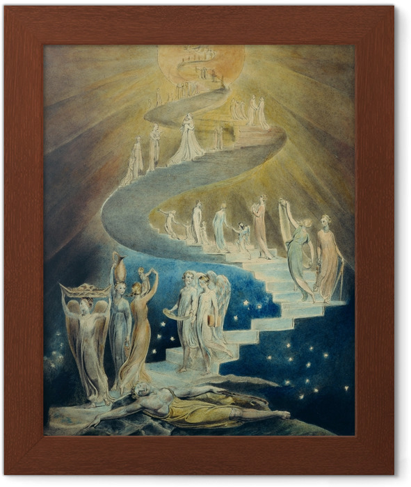 William Blake - Jacob's Ladder Framed Poster - Reproductions