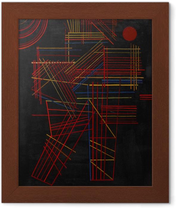 Gerahmtes Poster Wassily Kandinsky - Bunte Stäbchen - Reproduktion