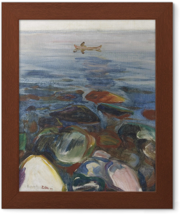 Edvard Munch - Boat on the Sea Framed Poster - Reproductions