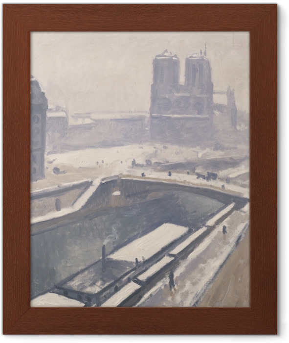 Plakat w ramie Albert Marquet - Widok na Notre-Dame - Reproductions