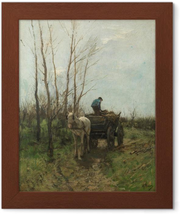Poster in Cornice Anton Mauve - La raccolta della legna - Reproductions