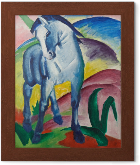 Ingelijste Poster Franz Marc - Modrý kůň - Reproductions