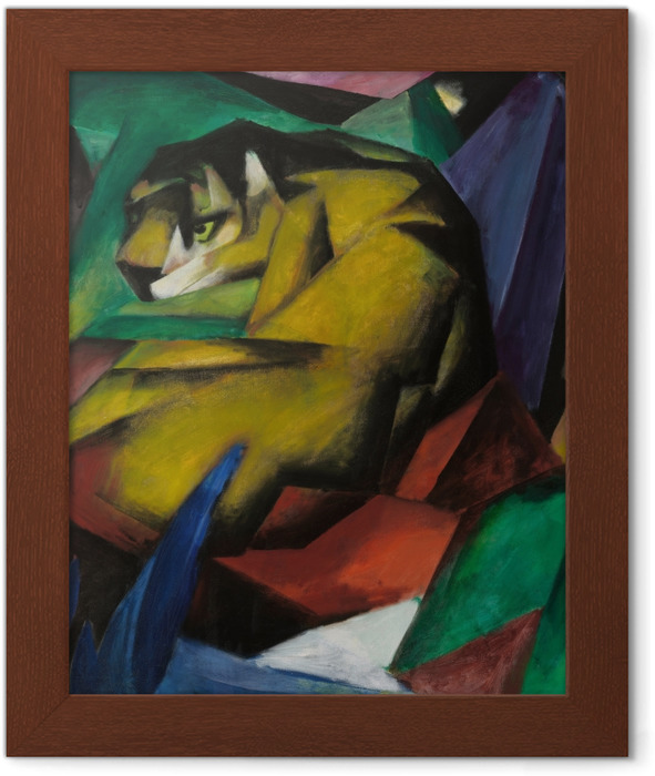 Franz Marc - The Tiger Framed Poster - Reproductions