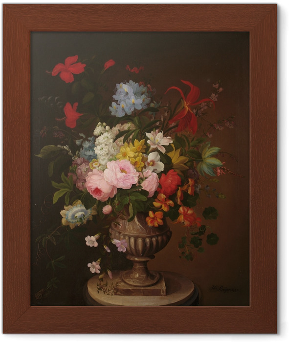 Henryka Beyer - Flowers in a Jar Framed Poster - Reproductions