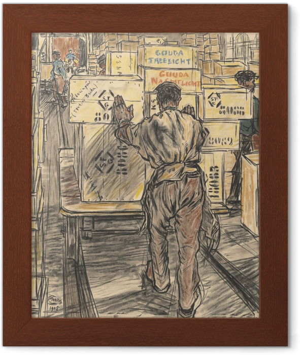 Jan Toorop - Candle Factory in Gouda, 4 - Warehouse Framed Poster - Reproductions