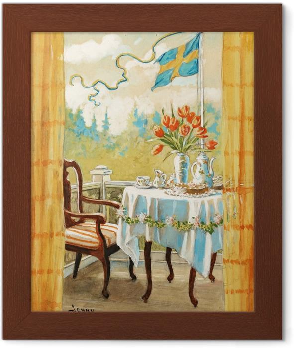 Poster in Cornice Jenny Nyström - Acquerello e matita - Reproductions