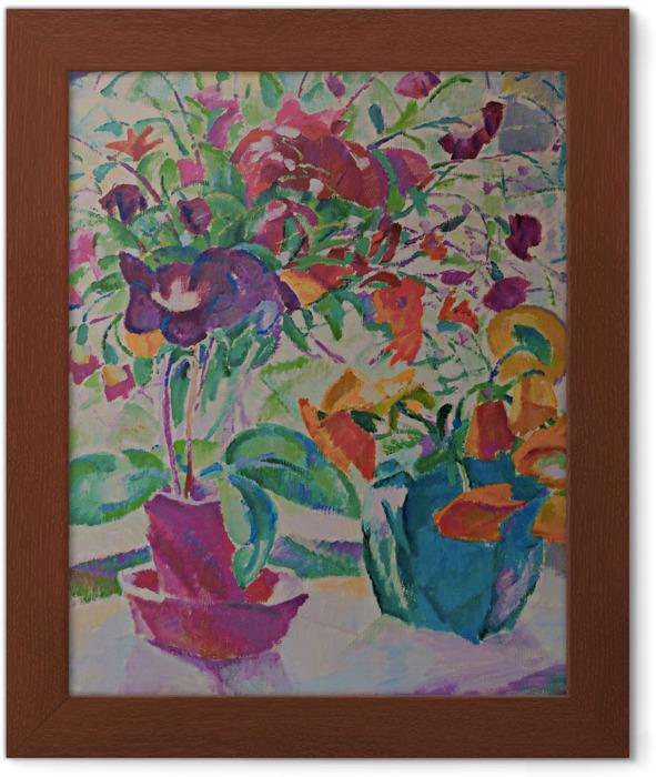 Poster en cadre Leo Gestel - Bouquet à la fenêtre - Reproductions