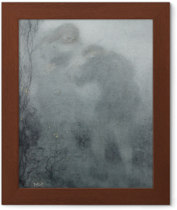 Matthijs Maris - Figures in the Woods Framed Poster - Reproductions