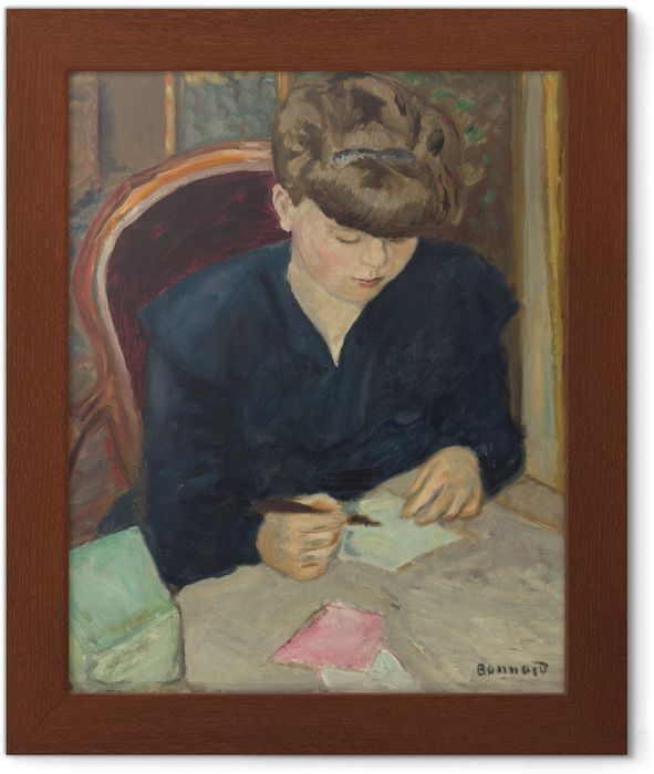 Çerçeveli Poster Pierre Bonnard - A Carta - Reproductions