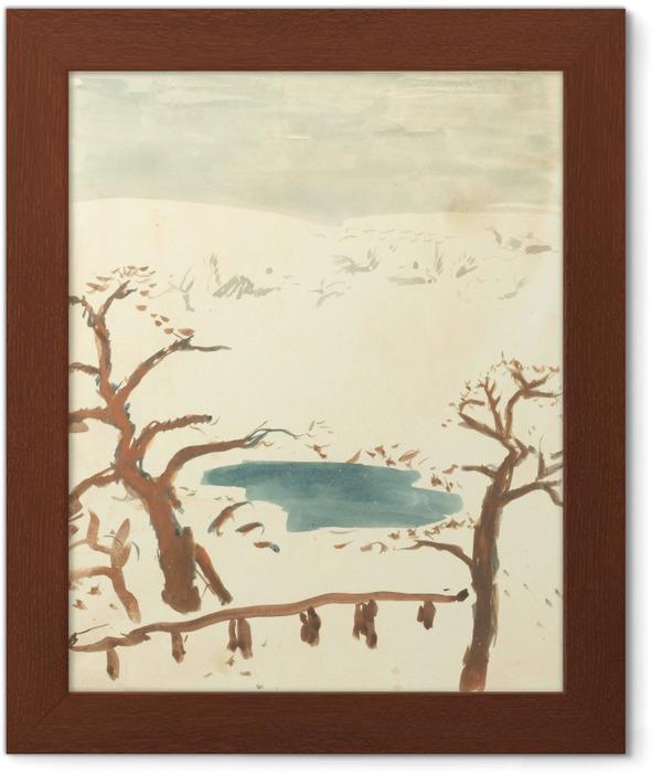 Pierre Bonnard - Winter Landscape Framed Poster - Reproductions