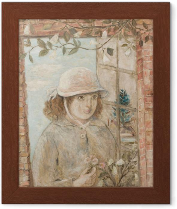 Poster in Cornice Tadeusz Makowski - Finestra in fiori - Reproductions