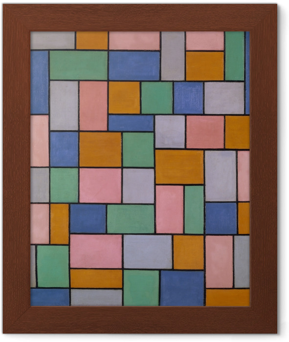 Theo van Doesburg - Compisition in dissonances Framed Poster - Reproductions