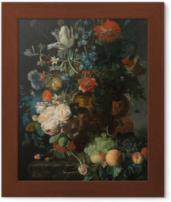 Póster Enmarcado Jan van Huysum - Still life with flowers - Reproducciones