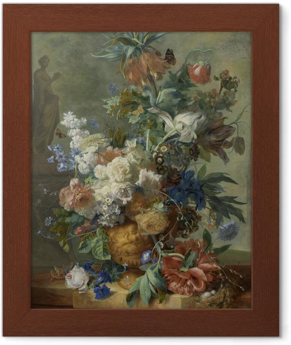 Jan van Huysum - Still Life with Flowers Framed Poster - Reproductions