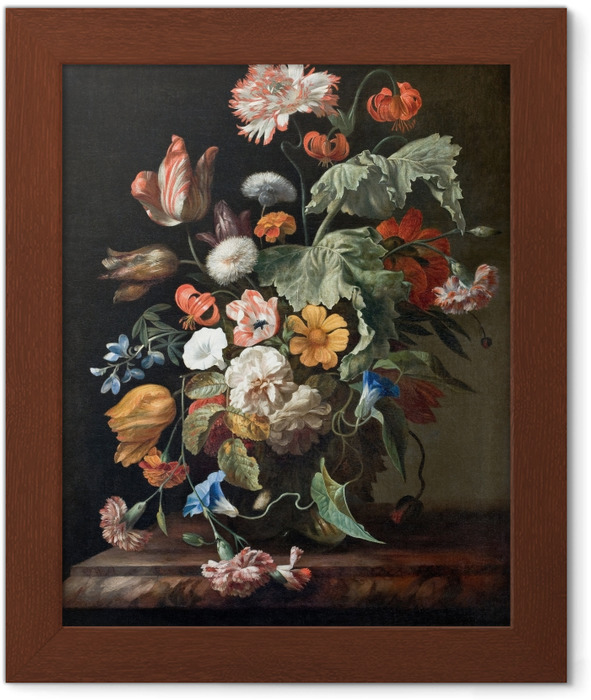 Rachel Ruysch - Still-Life with Flowers Framed Poster - Reproductions