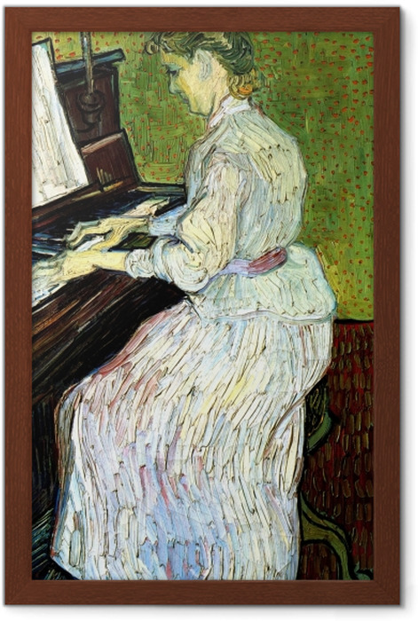 Vincent van Gogh - Marguerite Gachet at the piano Framed Poster - Reproductions