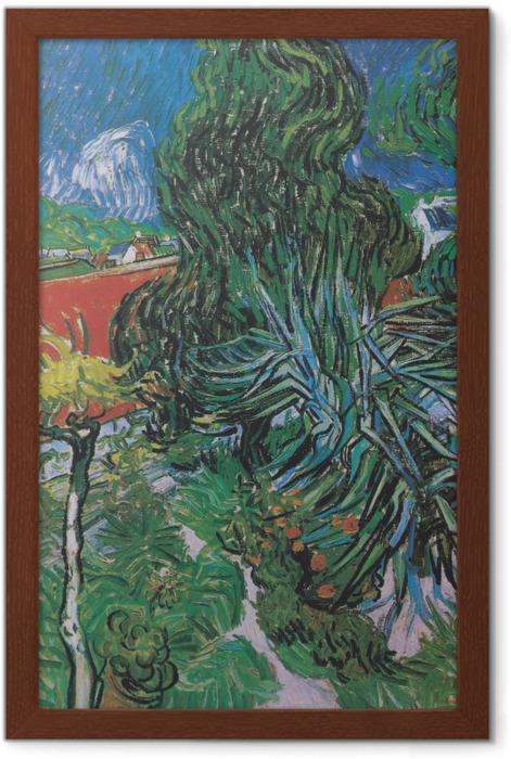 Gerahmtes Poster Vincent van Gogh - Der Garten von Dr. Gachet in Auvers - Reproductions
