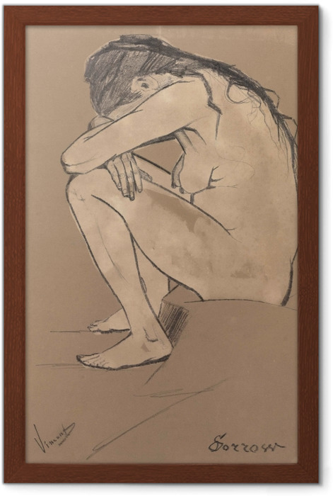 Vincent van Gogh - Sorrow Framed Poster - Reproductions