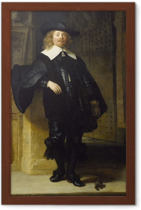 Rembrandt - Portrait of Andries de Graeff Framed Poster - Reproductions