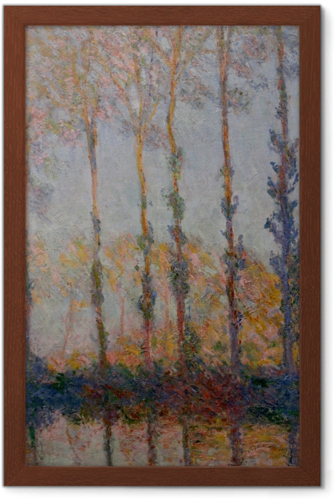 Claude Monet - Poplars on the Banks of the Epte Framed Poster - Reproductions