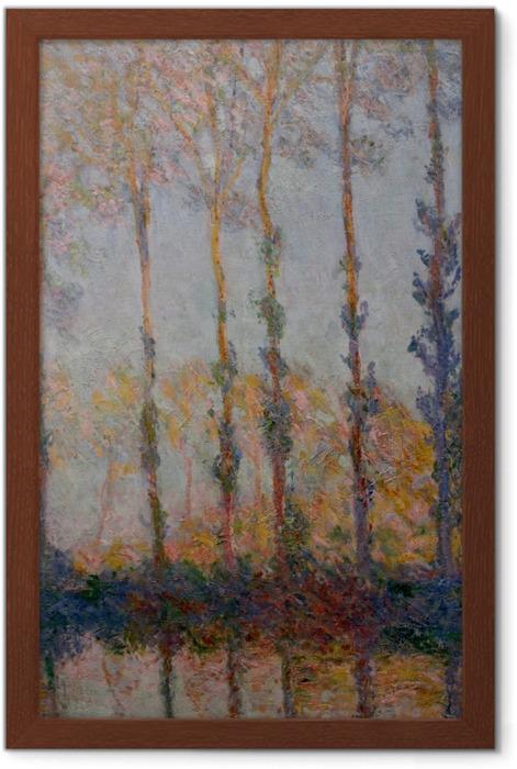Póster Enmarcado Claude Monet - Álamos en los bancos del Epte - Reproducciones