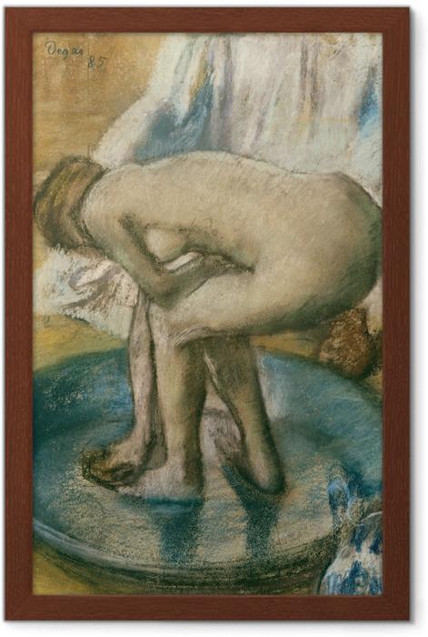 Edgar Degas - In the Bath Framed Poster - Reproductions