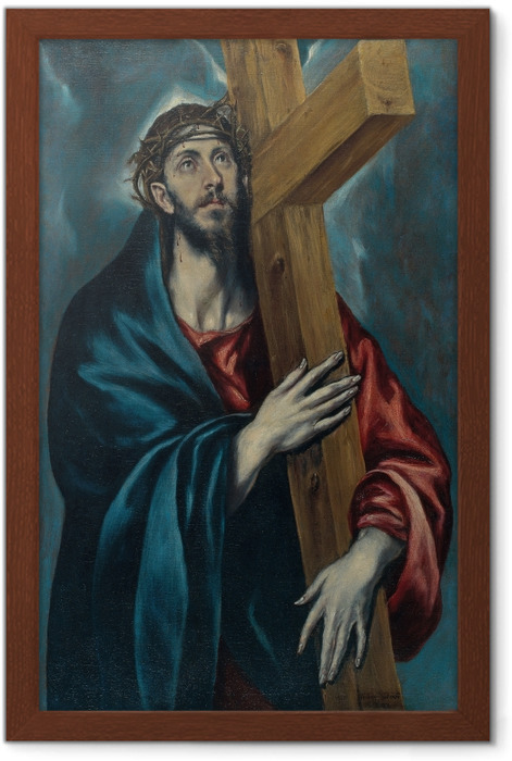 El Greco - Christ Carrying the Cross Framed Poster - Reproductions