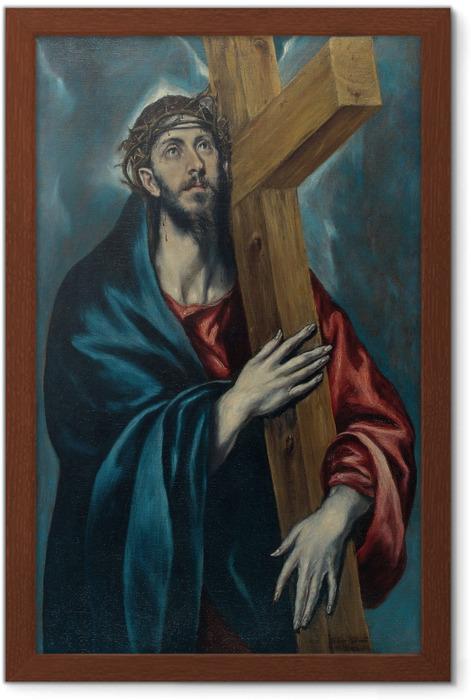 Póster Enmarcado El Greco - Cristo con la cruz - Reproducciones