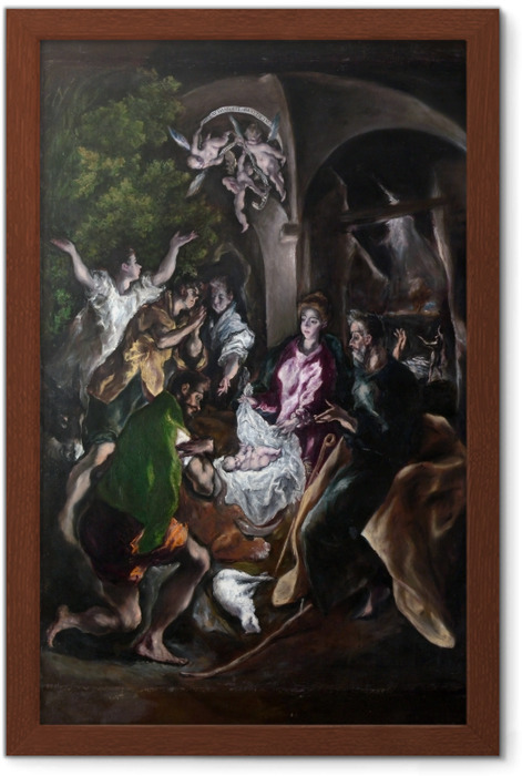El Greco - Adoration of the Shephards Framed Poster - Reproductions