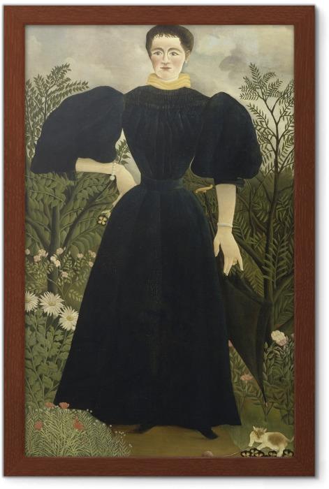 Póster Enmarcado Henri Rousseau - Retrato de una mujer - Reproducciones