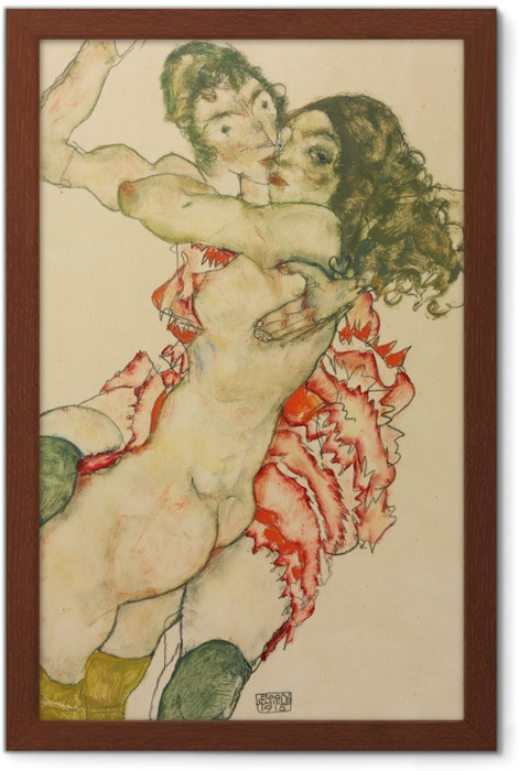 Egon Schiele - Two Women Framed Poster - Reproductions