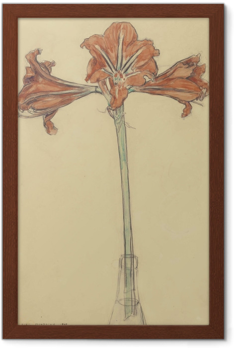 Gerahmtes Poster Piet Mondrian - Amaryllis - Reproduktion