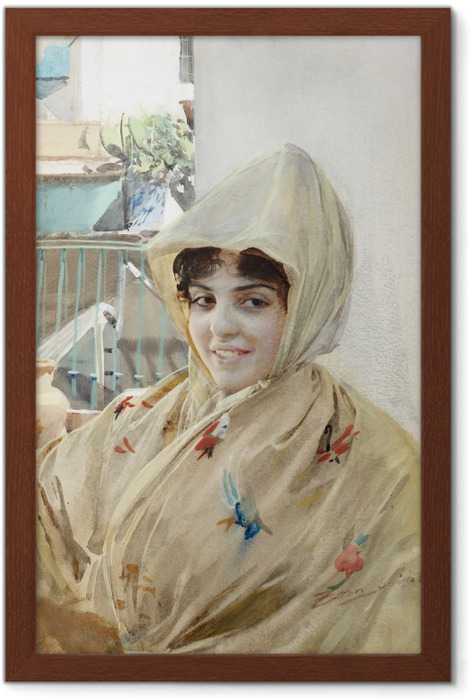 Poster in Cornice Anders Zorn - Mathilde - Reproductions