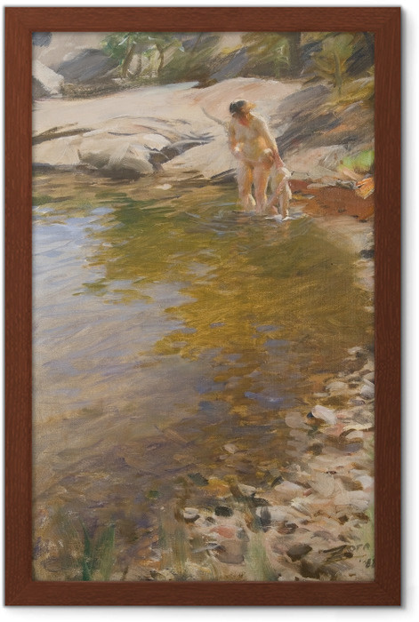 Poster en cadre Anders Zorn - Toilette matinale - Reproductions
