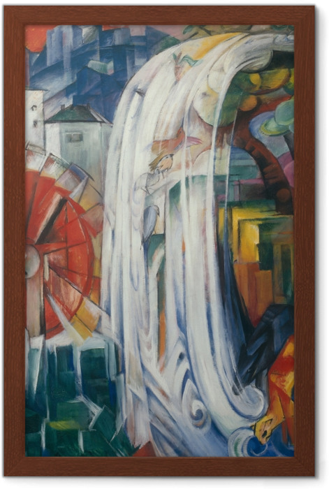 Franz Marc - The Bewitched Mill Framed Poster - Reproductions
