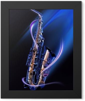 saxophone Framed Poster