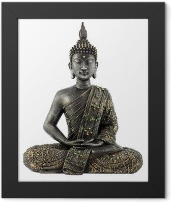 Bouddha statue de bronze zen Framed Poster