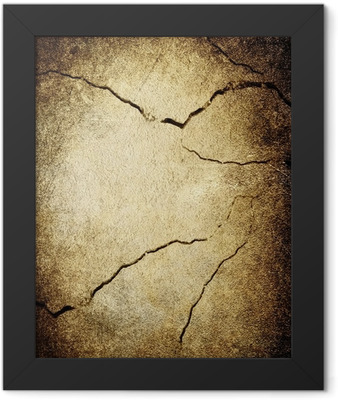 cracked wall background Framed Poster
