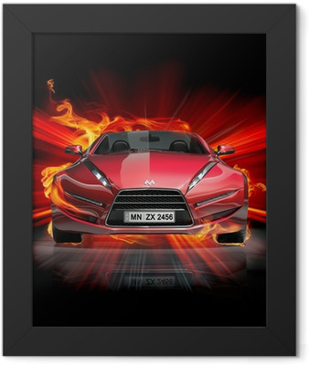 Fire car Framed Poster