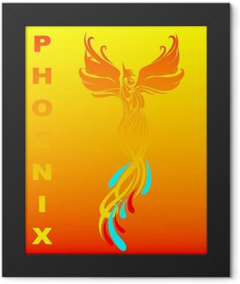 Mythical phoenix bird Framed Poster