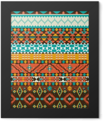 Seamless navajo geometric pattern Framed Poster