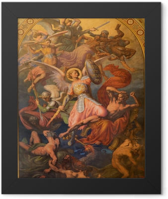 Vienna - Archangel Michael and war with the bad angels Framed Poster