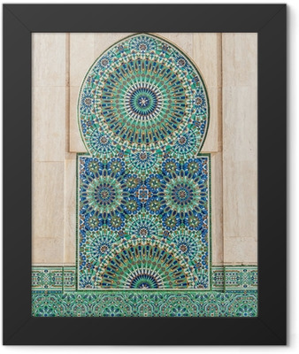 moroccan vintage tile background Framed Poster